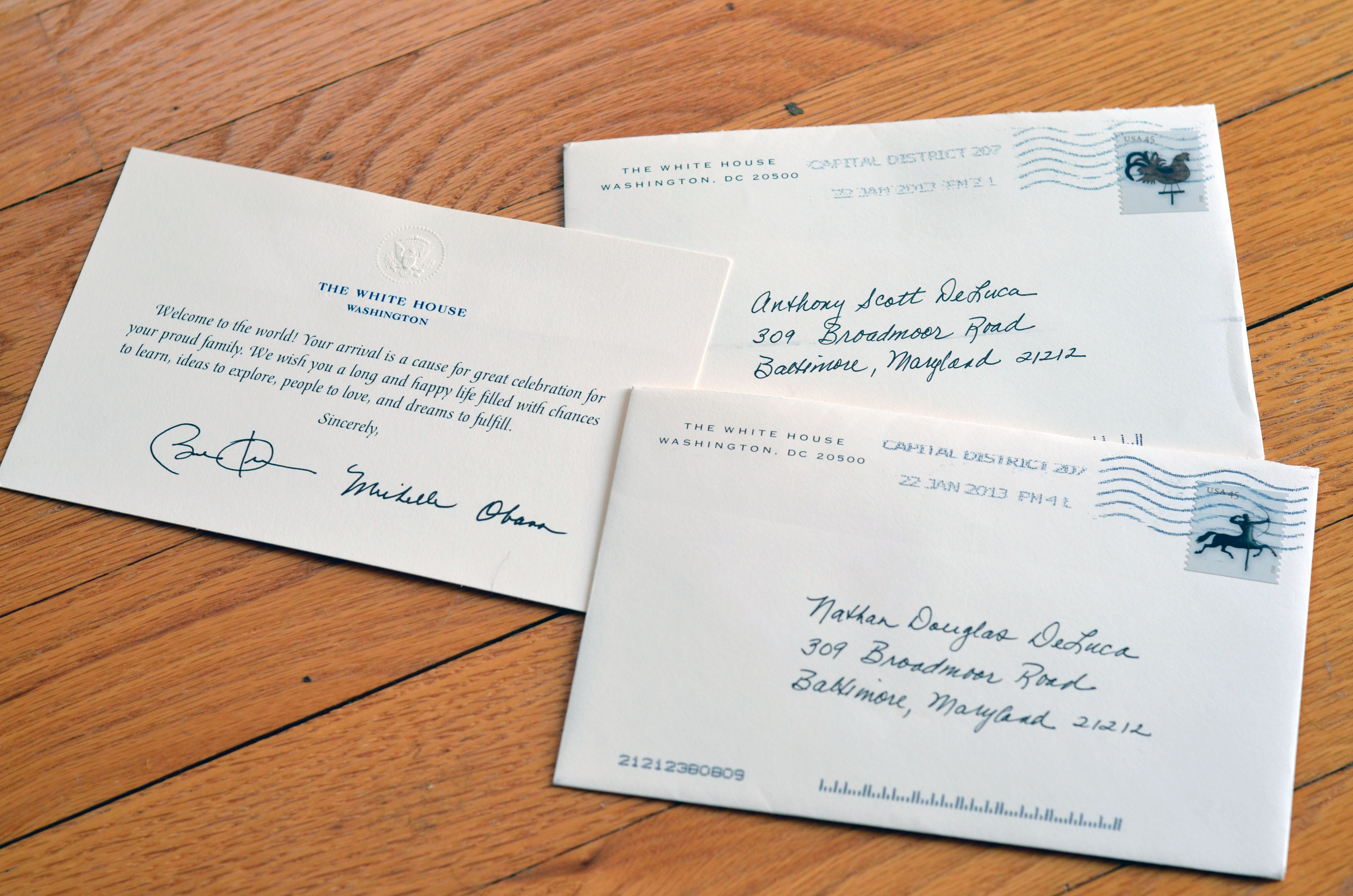 white house DeLuca Doubles – Presidential Birthday Card